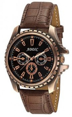 Addic Hot Analogue Black Dial Watch For Men.