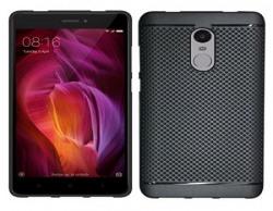 Affix Dotted Back Cover For Mi Redmi Note 4 / Xiaomi Redmi Note 4 (Pure Black)