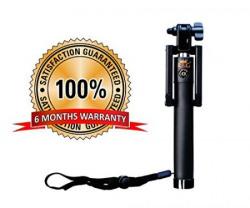 R&G Premium Quality High Class Bluetooth Selfie Stick - (Black)