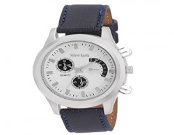 Silver Kartz Analog Men's Watch (White, Blue_WTM-043)