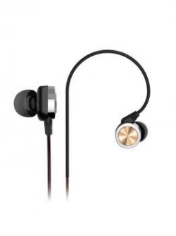 SoundBot Unisex Black & Rose Gold-Toned In-Ear