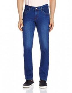 Urban District Men's Slim Fit Jeans (UDDEL015_28W x 34L_Light Blue)