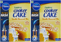Pillsbury Eggless Cooker Cake Mix, Vanilla, 159g (Pack of 2)