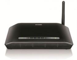 D-Link DSL-2730U Wireless N 150 ADSL2+ 4-Port Router (Black)