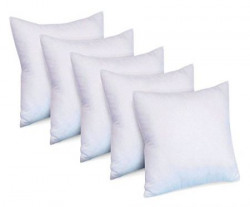 Super India Micro Fiber Cushion Fillers (Set of 5) 12 inch X 12 inch - White