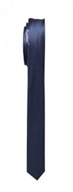 Sorella'z Navy Blue Satin Slim Necktie for Men's + Free Delivery