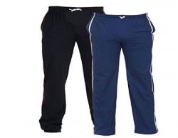 TeesTadka Men's Cotton TrackPants for Men Value Pack Combo Offers for Men Pack of 2