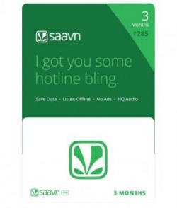 Saavn Pro Gift Card-Rs.285