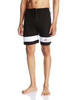 Chromozome Men's Cotton Shorts (S-5066 Deep Black S)