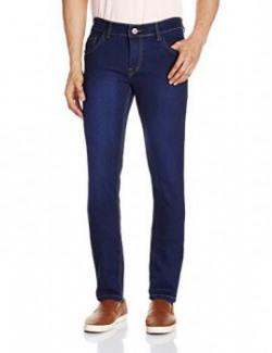 Urban District Men's Slim Fit Jeans (UDDEL013_34W x 34L_Dark Blue)