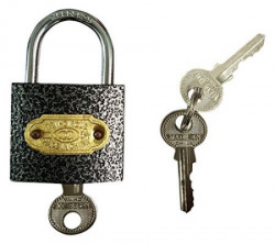 Rinnovare 5 Levers 38mm Lock with 3 Keys (Chrome) (Pack of two)