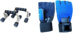 Vinto Superb Combo Push Up Bar and Gloves Gym & Fitness Kit