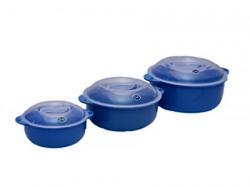 Logic Plastic Plain Casserole - 3 Piece - Blue