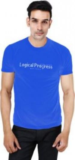 Aashi Fashions Solid Men & Women Round Neck Blue T-Shirt