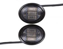 Autofy Universal 3 LED Number Plate Light for All Bikes (Black, Set of 2)