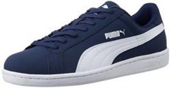 Puma Unisex Smash Nubuck Peacoat and White Sneaker - 9 UK