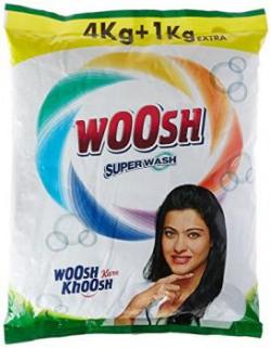 Woosh Super Detergent Powder - 4 kg with Free Detergent Powder - 1 kg