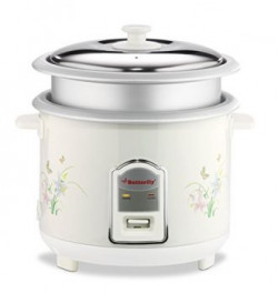Butterfly Cylindrical 3P-018 1.8-Litre 700-Watt Electric Rice Cooker (White)