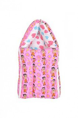 Luke and Lilly Chhota Bheem Baby Bedding Set Cum Sleeping Bag,Bed For Just Born baby. (Pink)