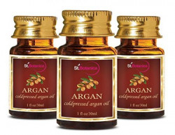 StBotanica Argan Pure ColdPressed Oil, 30ml - 3 Bottles - Useful for Hair, Skin
