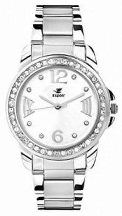 Espoir Diamond Studded Analog White Dial Women's Watch - Sridevi 0507