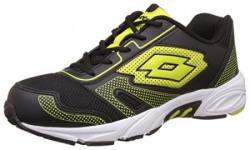 Lotto Men's Dynamo Black and Yellow Running Shoes - 8 UK/India (42 EU)