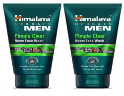 Himalaya Men Pimple Clear Neem Face Wash, 100ml (Pack of 2)