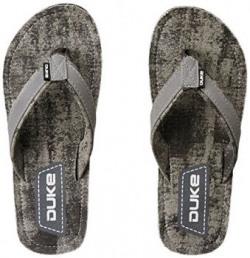 Duke Men's Grey Flip Flops Thong Sandals - 10 UK/India (44 EU)