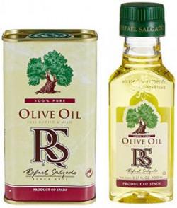 Rafael Salgado Pure Olive Oil Tin, 200ml With Free Rafael Salgado Olive Oil, 100ml