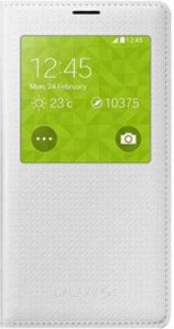 SAMSUNG Flip Cover for SAMSUNG Galaxy S5  (White Perforated)