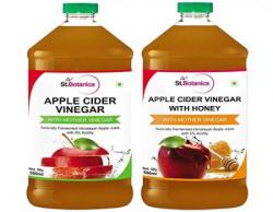 St.Botanica Apple Cider Vinegar - 500 ml and Apple Cider Vinegar with Honey - 500 ml