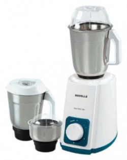 Havells Supermix 500-Watt Juicer Mixer Grinder (White and Turquoise)
