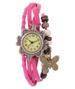 Brosis Deal Pink Analog Watch