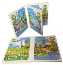 Saffire Set of 6 Animal Mosaic Jigsaw Puzzles, Multi Color