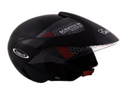 Autofy Habsolite Estilo Glossy Flip Up Helmet (Black, M)