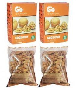 Go Organic Lb 250g(pack Of 2)& Usa Regular Almond (badam) 250 Gm Pack Of 4
