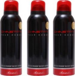 Rasasi 3 Chastity Men Deodorant Spray - For Men
