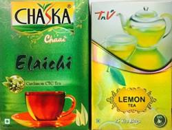 buy ELAICHI CTC tea & get LEMON green tea bag free
