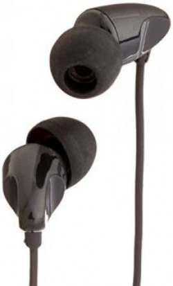 AmazonBasics In-Ear Headphones with universal mic (Black)