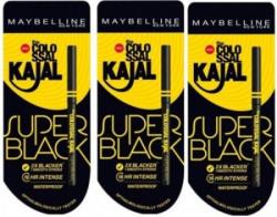 Maybelline Colossal Kajal Super Black Pack Of 3 1.05 g