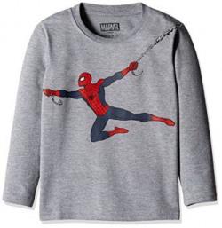 Marvel Spider-man Boys' Sweatshirt (BD16-237AKTSWFS_MELANGE_7/8)