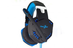 Redgear HellFury 7.1 Professional Gaming Headphones with LED Light, Retractable Microphone and In-line controller for audio/Mic/Led