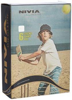 Nivia Heavy Weight Tennis Cricket Ball, Pack of 6 (Yellow)