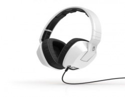 Skullcandy Crusher Headphone with Built-in Amplifier and Mic (White)