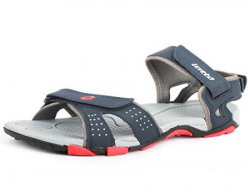 Lotto Men's Grey and Red Sandals and Floaters - 7 UK/India (41 EU)