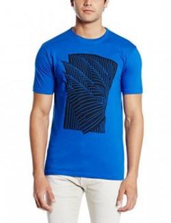 Cloth Theory Men's T-Shirt (CTABSBRKNLINE_Large_Royal Blue)