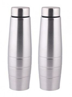 Zafos Stainless Steel Fridge Water Bottle (Set of 2) 1000 ml- Ideal to store water and other beverages.
