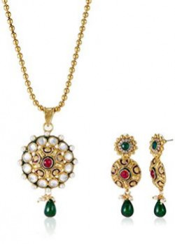 Aheli Jewellery Set for Women (Golden)(A1PS17)