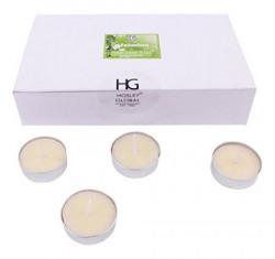 Hosley Highly Fragranced Jasmine Wax Tea Light (3.81 cm x 3.81 cm x 1.27 cm, White, Set of 30)