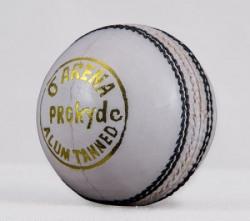 Prokyde Arena White Cricket Ball Cricket Ball - Size: 4